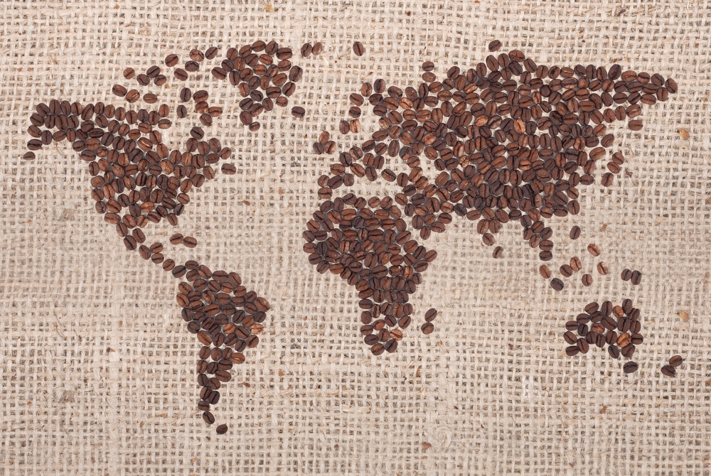World-map-coffee-beans